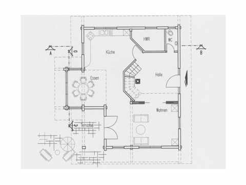 Musterhaus Hohenlohe - Fullwood Wohnblockhaus Grundriss EG