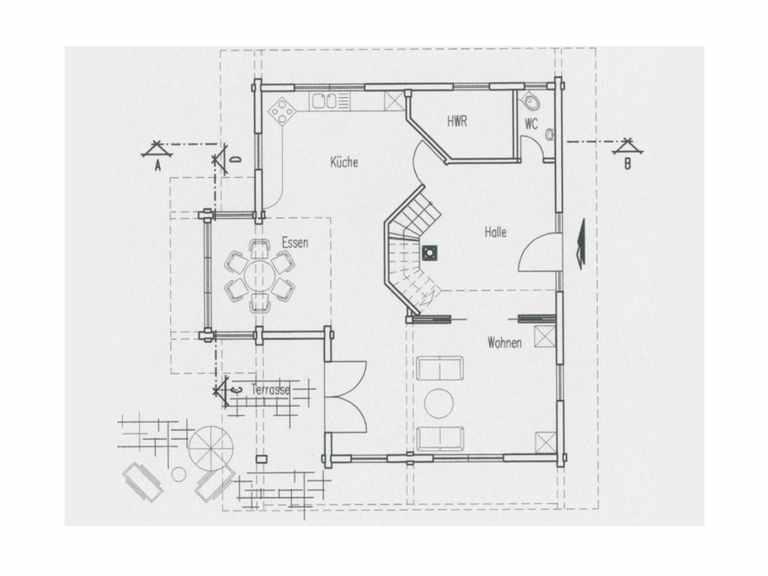 Grundriss Erdgeschoss Haus Hohenlohe von Fullwood Wohnblockhaus