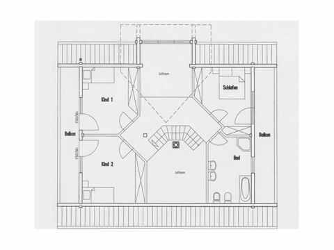 Musterhaus Hohenlohe - Fullwood Wohnblockhaus Grundriss OG