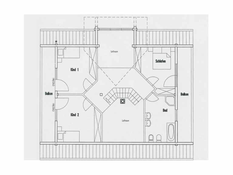 Grundriss Obergeschoss Haus Hohenlohe von Fullwood Wohnblockhaus