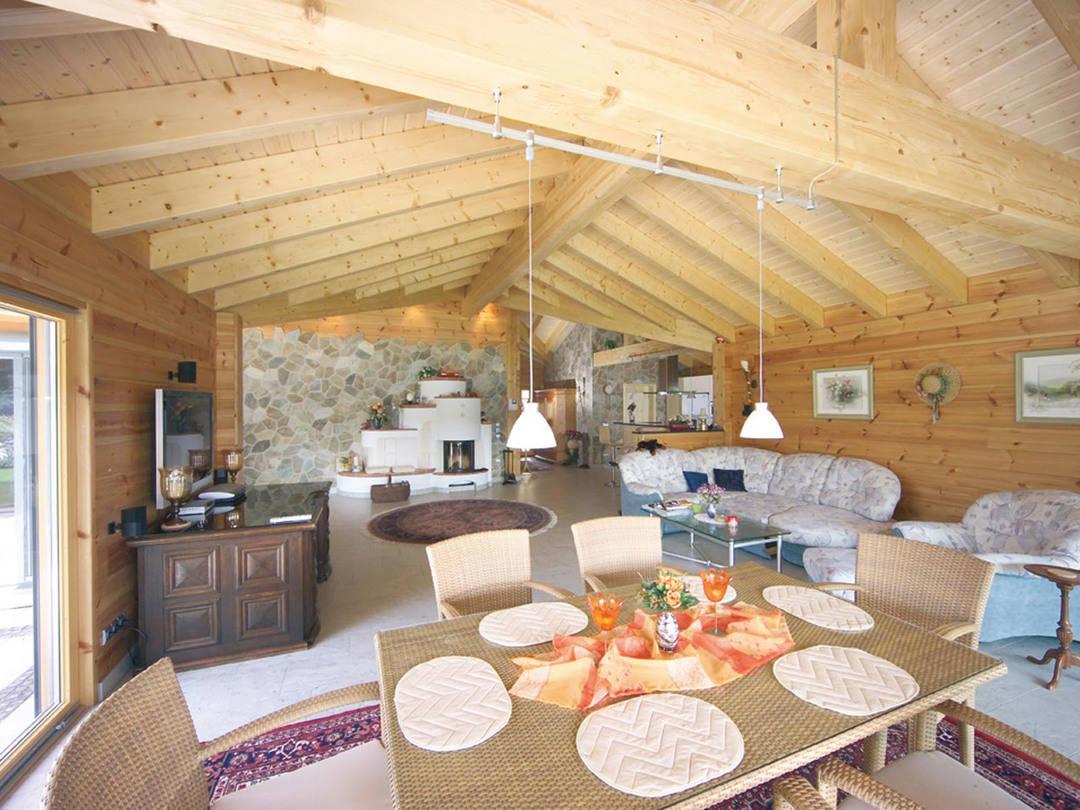 Essbereich Holzhaus Elsass von Fullwood Wohnblockhaus