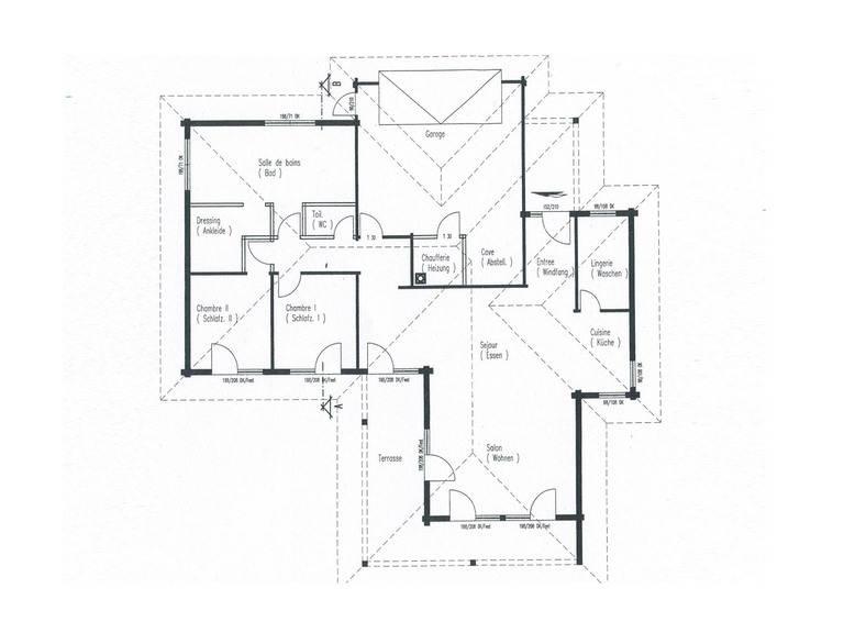 Grundriss Holzhaus Elsass von Fullwood Wohnblockhaus