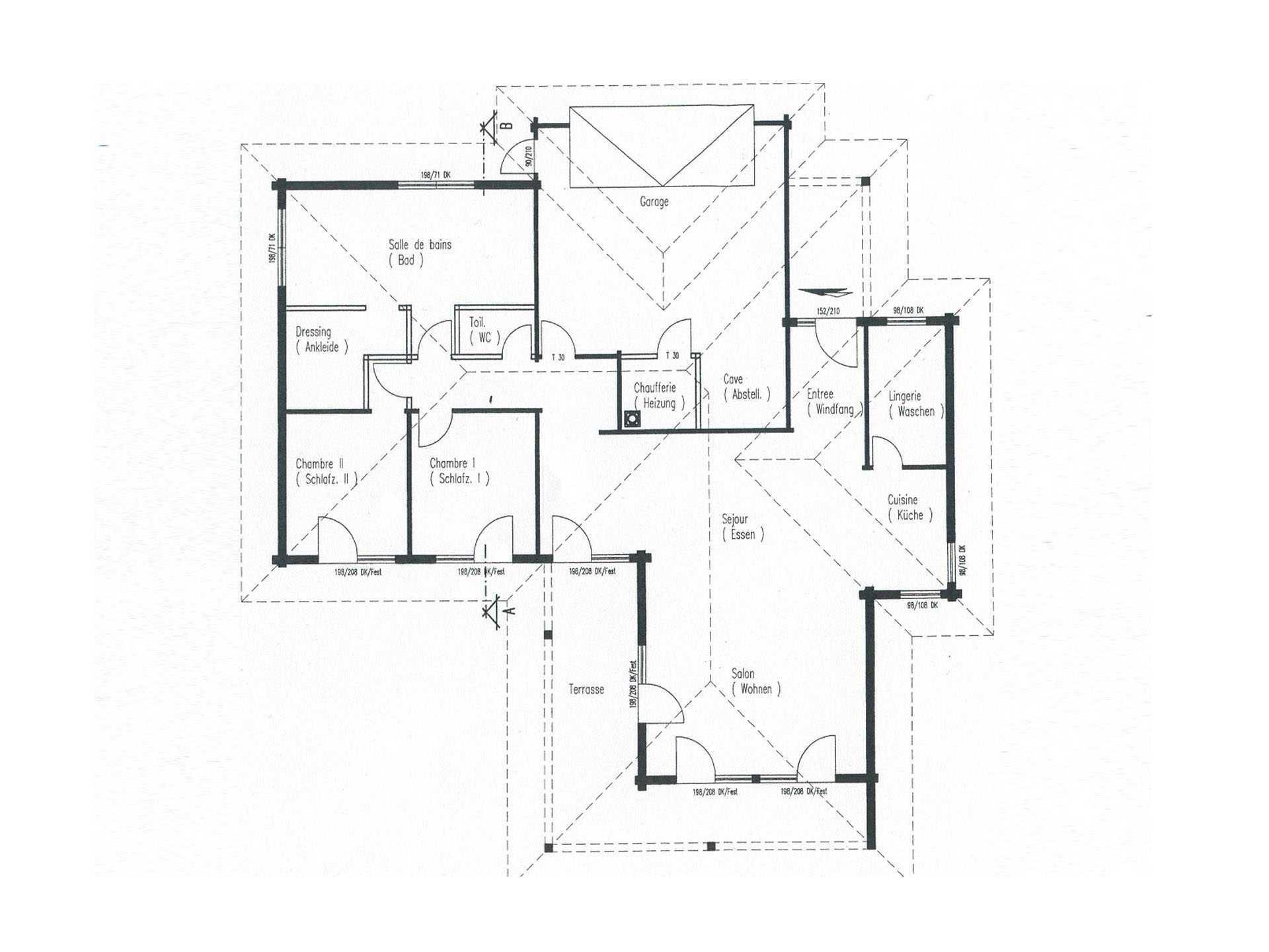 Holzhaus bungalow grundriss  Holzhaus Elsass - Fullwood Wohnblockhaus