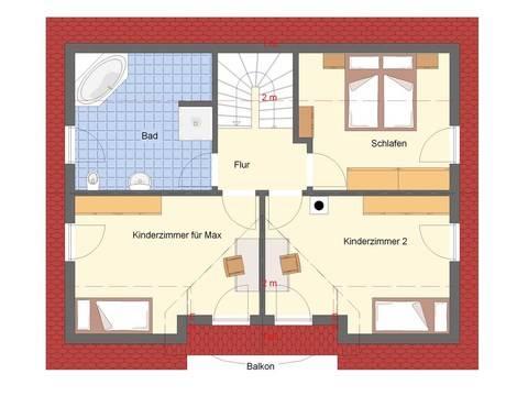 Sonnenhaus Wave Grundriss von Dominic Lang Hauskonzepte