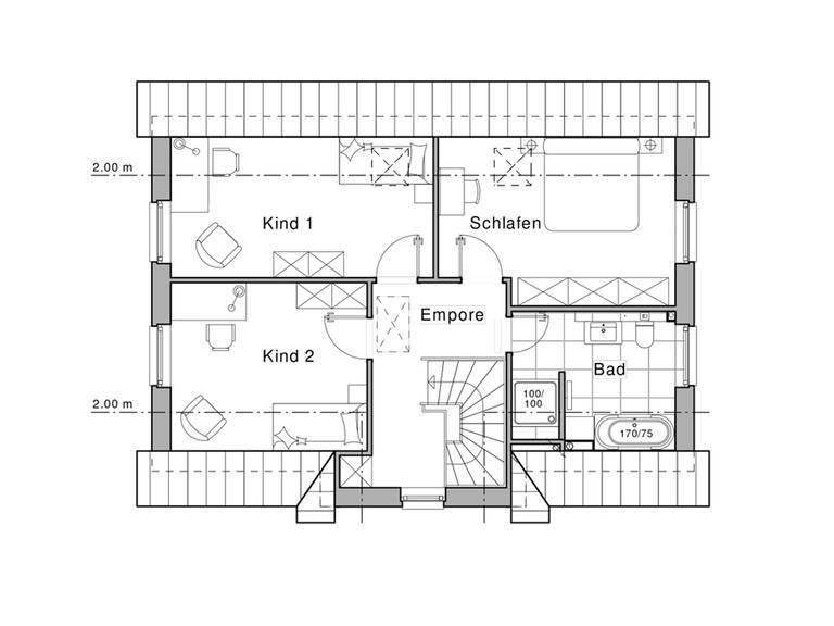 Haus Maxime 115 Grundriss DG von Viebrockhaus