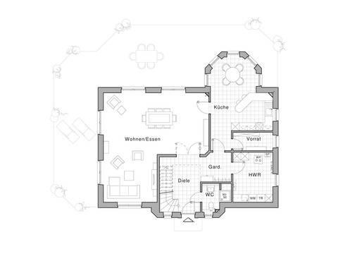 Haus Edition 455 Grundriss EG von Viebrockhaus