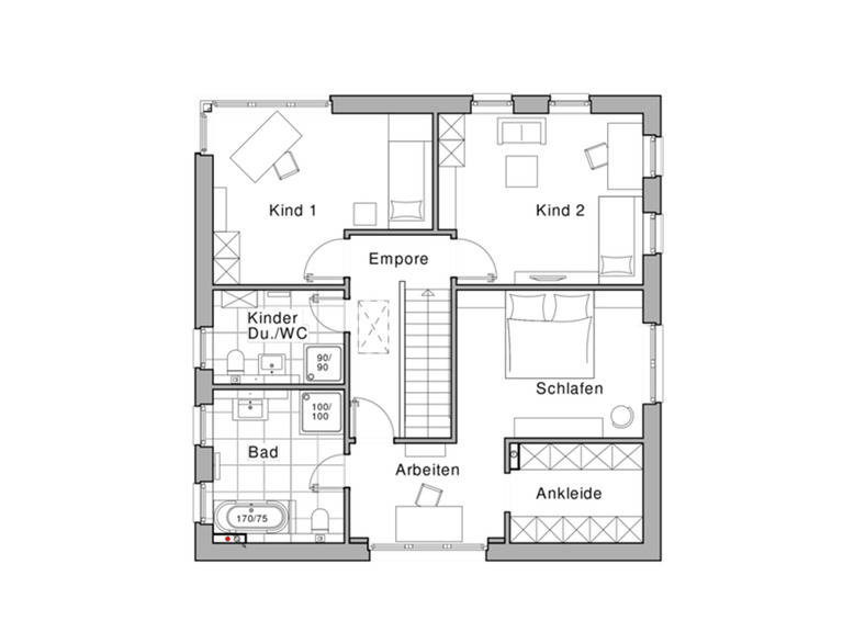 Maxime 800 Grundriss DG von Viebrockhaus