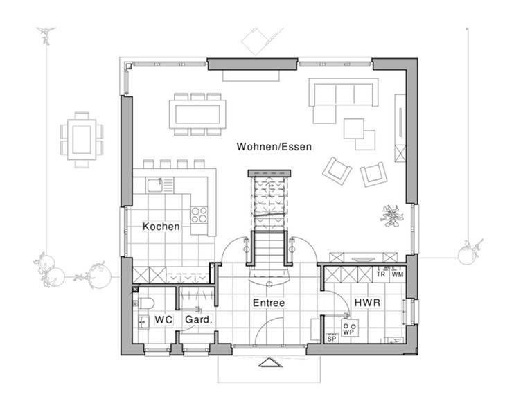 Maxime 800 Grundriss EG von Viebrockhaus