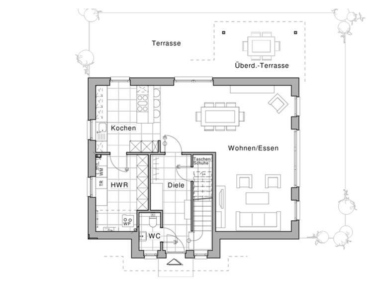 Haus Maxime 360 Grundriss EG von Viebrockhaus