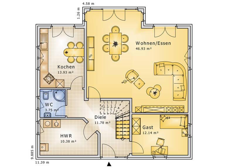 Grundriss Erdgeschoss Apart