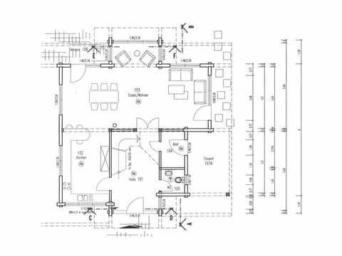 Grundriss Erdgeschoss Holzhaus Sonnenwiese von Fullwood Wohnblockhaus