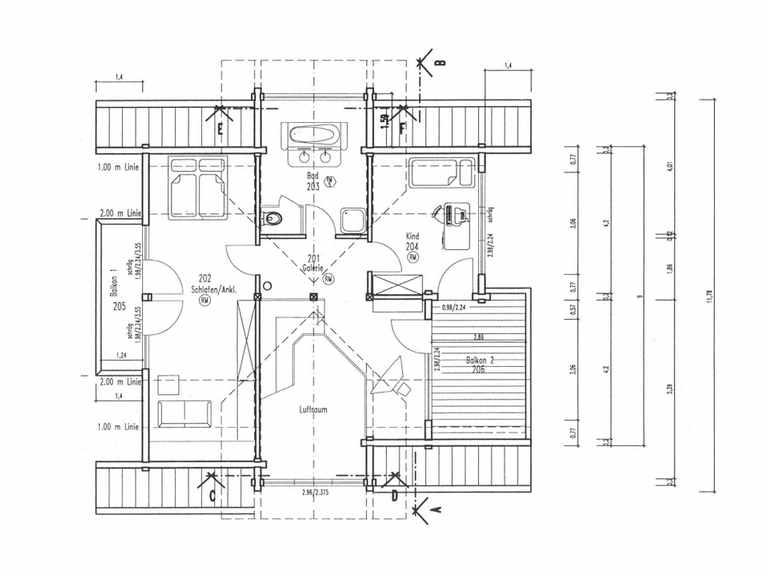 Grundriss Obergeschoss Holzhaus Sonnenwiese von Fullwood Wohnblockhaus