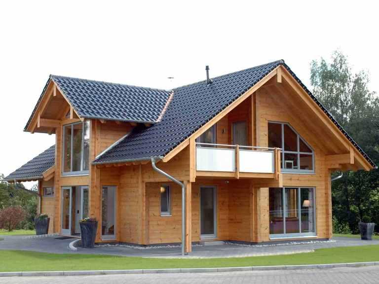 Musterhaus Sommerwiese - Fullwood Wohnblockhaus Garten