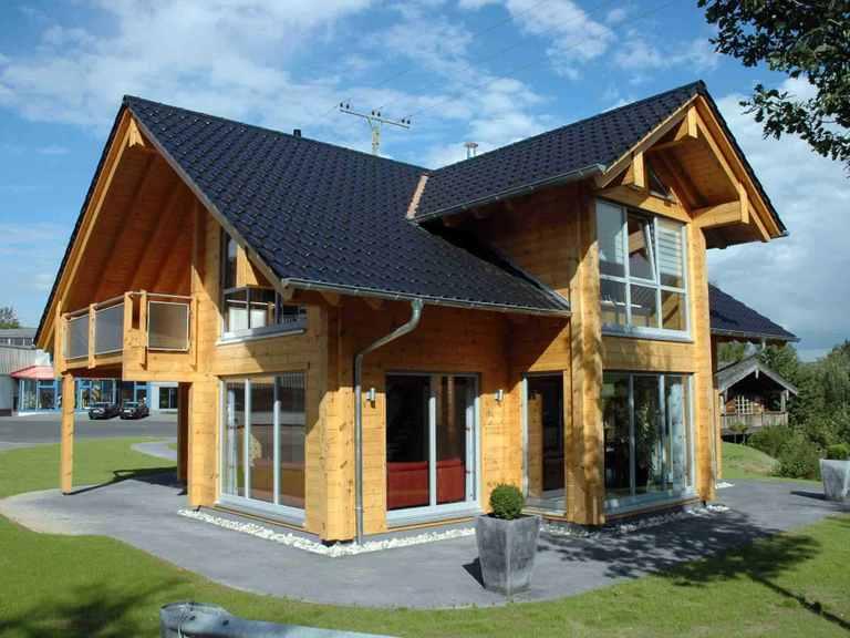 Musterhaus Sommerwiese - Fullwood Wohnblockhaus