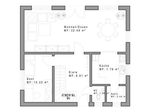 Haustyp 117 Grundriss Dachgeschoss