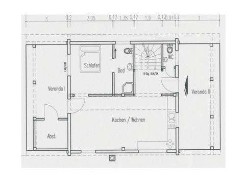 Grundriss Erdgeschoss Haus Singleglück von Fullwood Wohnblockhaus