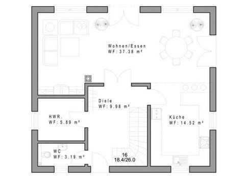 Haustyp SD129 Grundriss Erdgeschoss