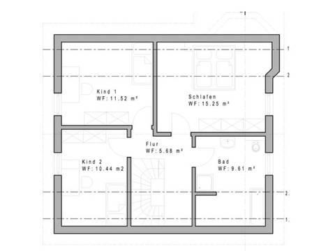 Haustyp 127 Grundriss Dachgeschoss