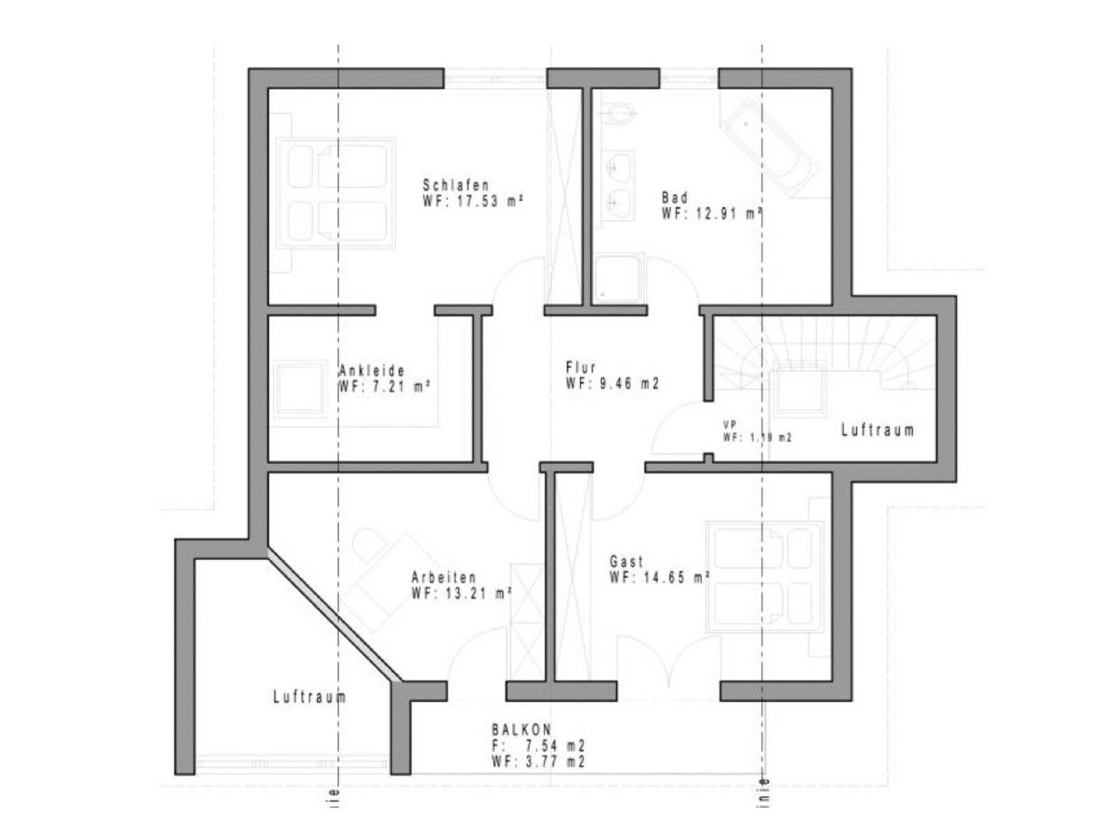 Haustyp SD180 Grundriss Erdgeschoss