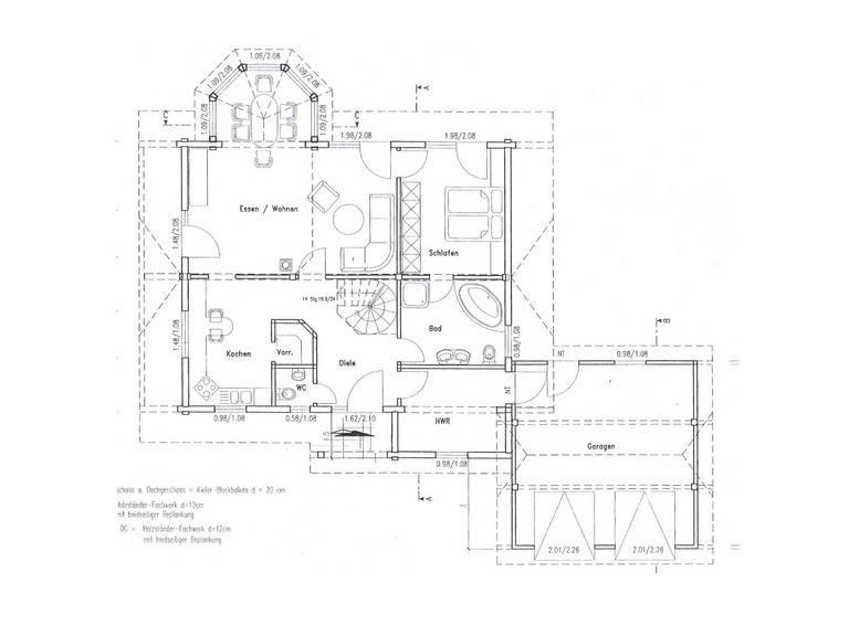 Grundriss Erdgeschoss Holzhaus Almof von Fullwood Wohnblockhaus