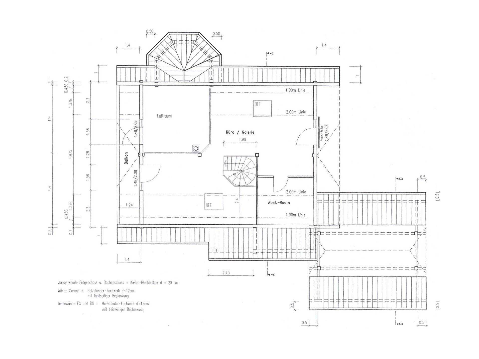 Grundriss Obergeschoss Holzhaus Almof von Fullwood Wohnblockhaus