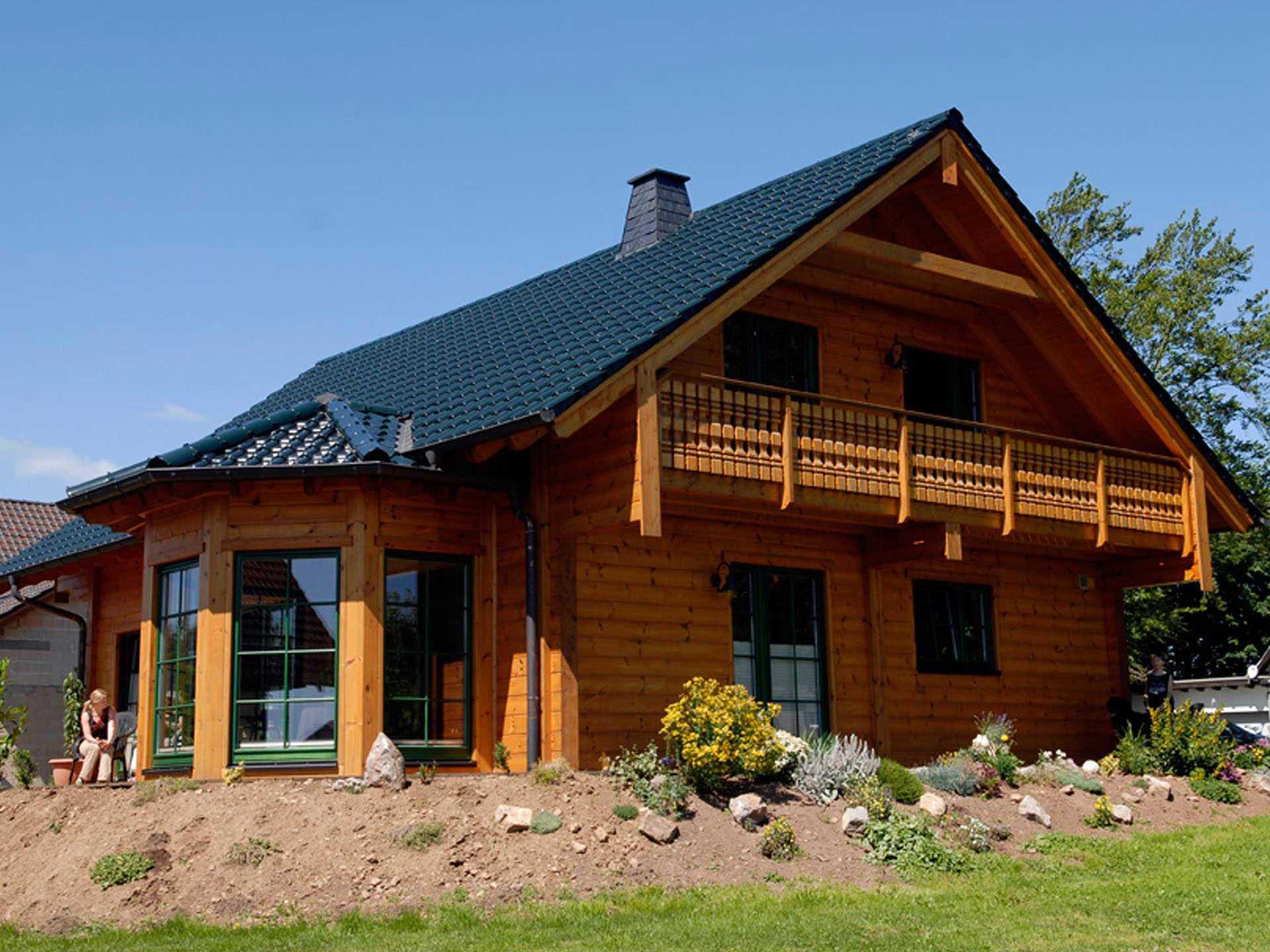 Holzhaus Almof Fullwood Wohnblockhaus