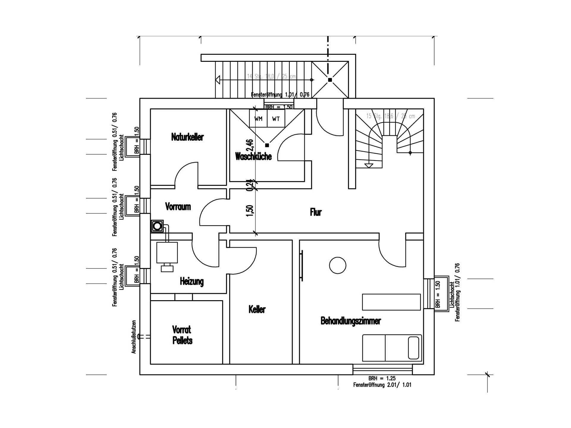 Grundriss Keller Holzhaus am Limes von Fullwod Wohnblockhaus