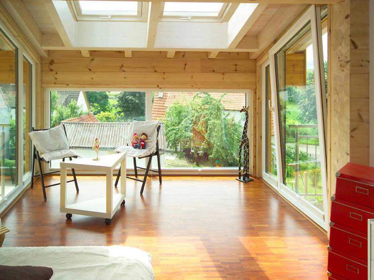 Innanansicht Holzhaus am Limes von Fullwood Wohnblockhaus