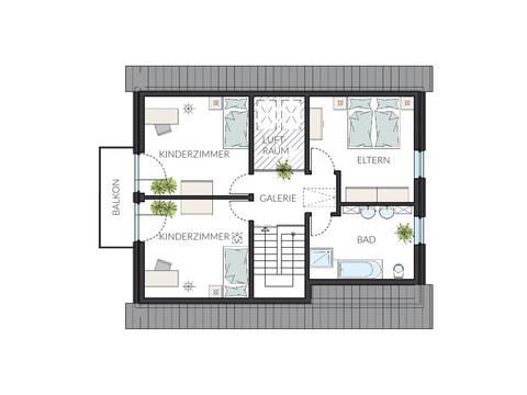 Einfamilienhaus ProArt 145 Grundriss DG