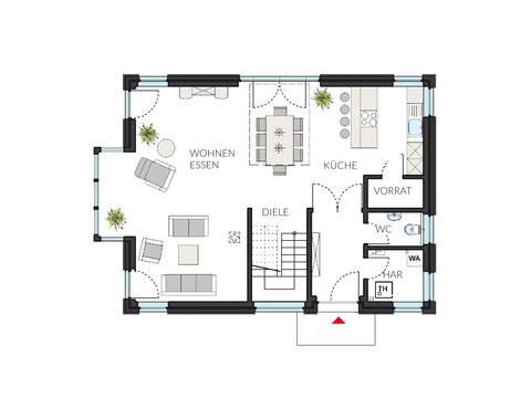 Einfamilienhaus ProArt 145 Grundriss EG