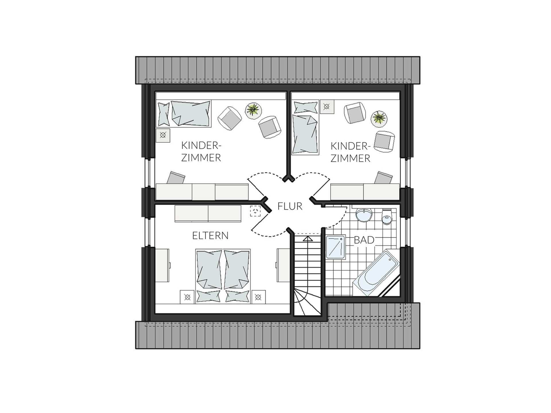 Einfamilienhaus ProFamily 134 Grundriss DG