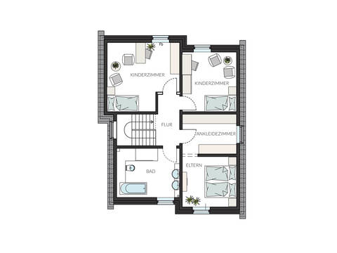 Pultdachhaus ProStyle 141 Grundriss DG
