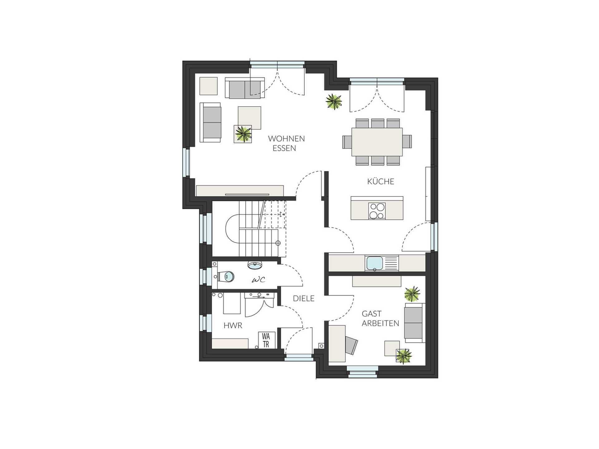 pultdachhaus prostyle 141 fg bg prohaus. Black Bedroom Furniture Sets. Home Design Ideas