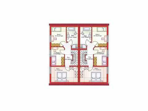 Doppelhaushälfte BS 103 - B&S Selbstbausysteme Grundriss DG