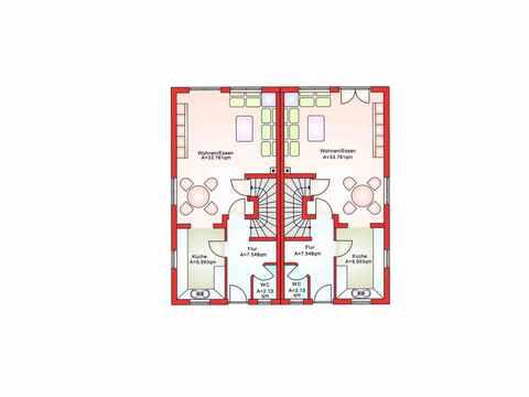 Doppelhaushälfte BS 103 - B&S Selbstbausysteme Grundriss EG