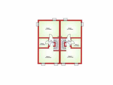 Doppelhaushälfte BS 103 - B&S Selbstbausysteme Grundriss KG