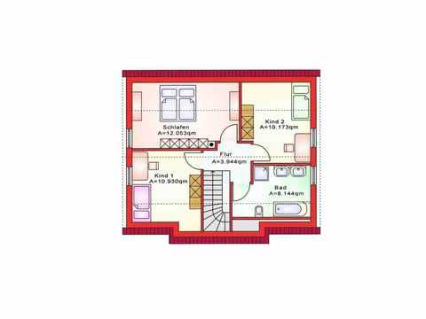 Einfamilienhaus BS 107 - B&S Selbstbausysteme Grundriss DG