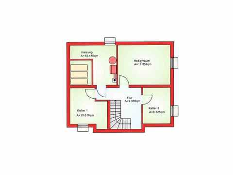Einfamilienhaus BS 107 - B&S Selbstbausysteme Grundriss KG