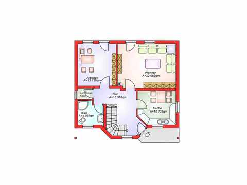 Einfamilienhaus BS 112 - B&S Selbstbausysteme Grundriss EG