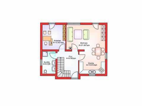 Pultdachhaus BS 118 - B&S Selbstbausysteme Grundriss EG