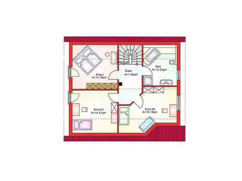 Einfamilienhaus BS 125 - B&S Selbstbausysteme Grundriss DG