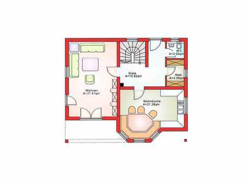 Einfamilienhaus BS 125 - B&S Selbstbausysteme Grundriss EG