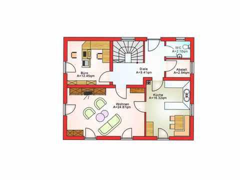 Einfamilienhaus BS 125 - B&S Selbstbausysteme Grundriss EG 2