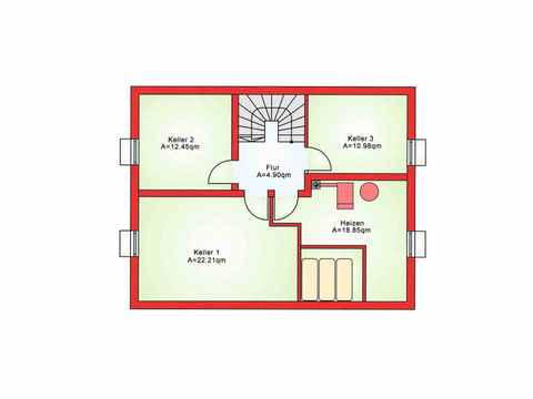 Einfamilienhaus BS 125 - B&S Selbstbausysteme Grundriss KG