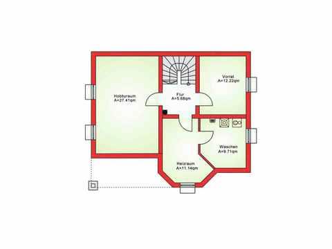 Einfamilienhaus BS 129 - B&S Selbstbausysteme Grundriss KG
