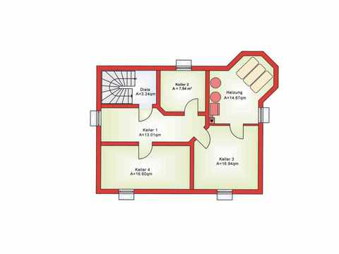 Einfamilienhaus BS 134 - B&S Selbstbausysteme Grundriss KG