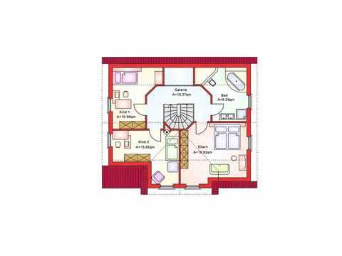 Einfamilienhaus BS 142 - B&S Selbstbausysteme Grundriss DG