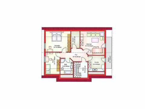 Zweifamilienhaus BS 181 - B&S Selbstbausysteme Grundriss DG