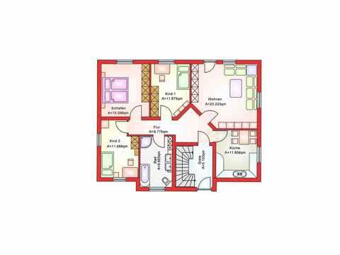 Zweifamilienhaus BS 181 - B&S Selbstbausysteme Grundriss EG