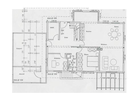 Grundriss Erdgeschoss Holzhaus Familienglück von Fullwood Wohnblockhaus